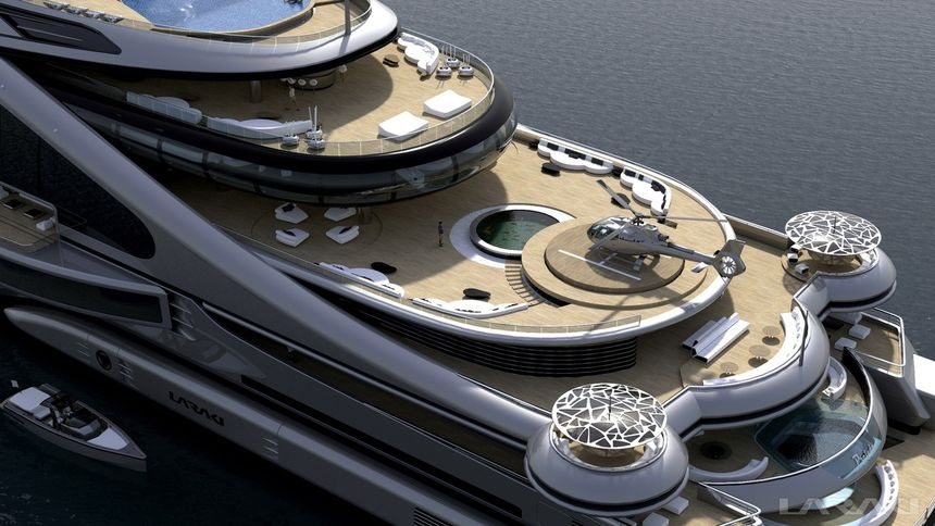 Stunning Nine Deck 163m Quot Prelude Quot Superyacht Concept By