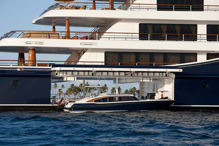 The perfect combo top five superyacht garages marine for Boat garages