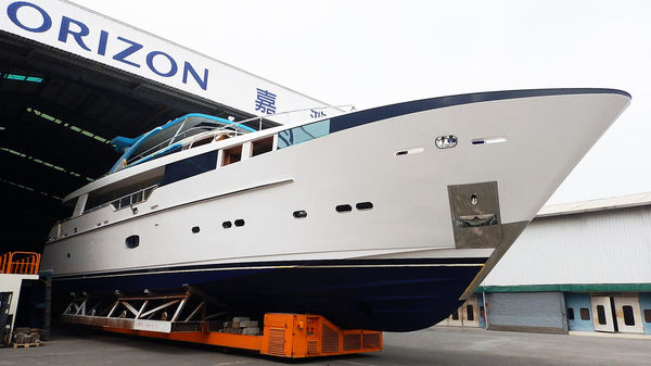 Horizon CC110 Superyacht Abaco Leaves Shed